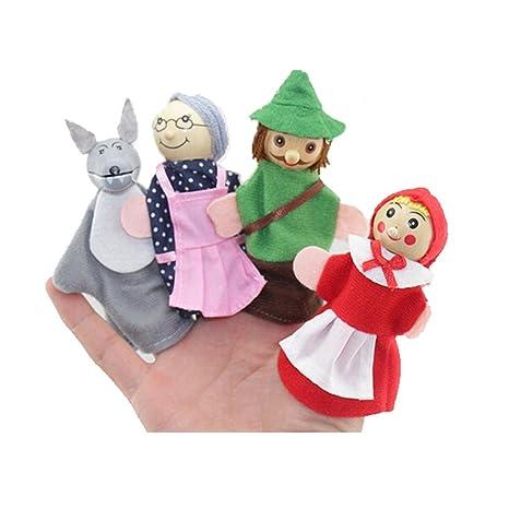 Tonsee Set Di 4 Marionette Da Dita Con I Personaggi Di