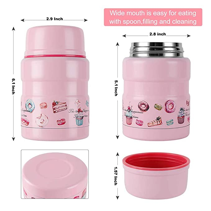 Amazon com: Vmotor Insulated Lunch Container Thermos Food