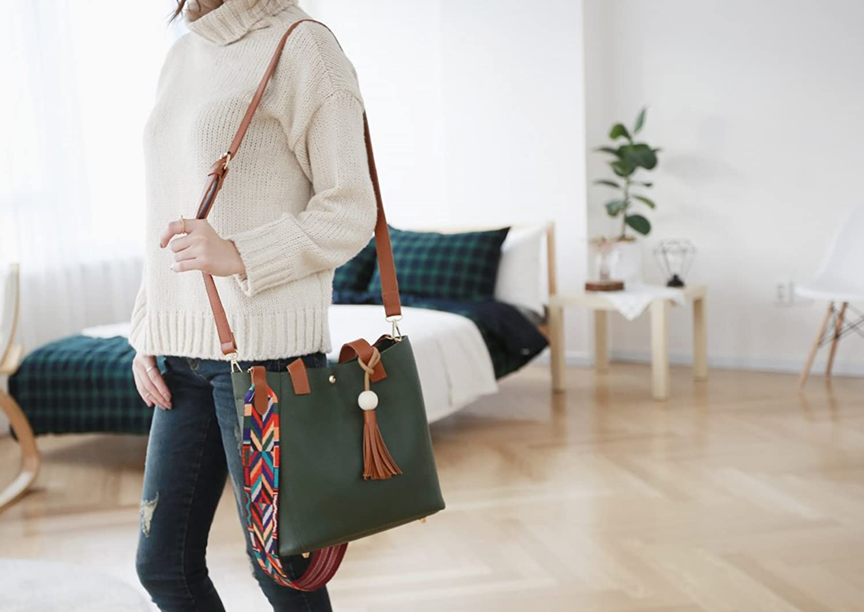 Callibag 2017 New Fashion Classy Chic Design Women Shoulder Easy Handbag Crossbody Bag with Tassel Colorful Strap