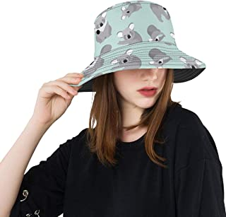 Gednix Ecstatic Koala Animal Summer Unisex Fishing Sun Top Bucket Hats for Kid Teens Women and Men with Packable Fisherman Cap for Outdoor Baseball Sport Picnic