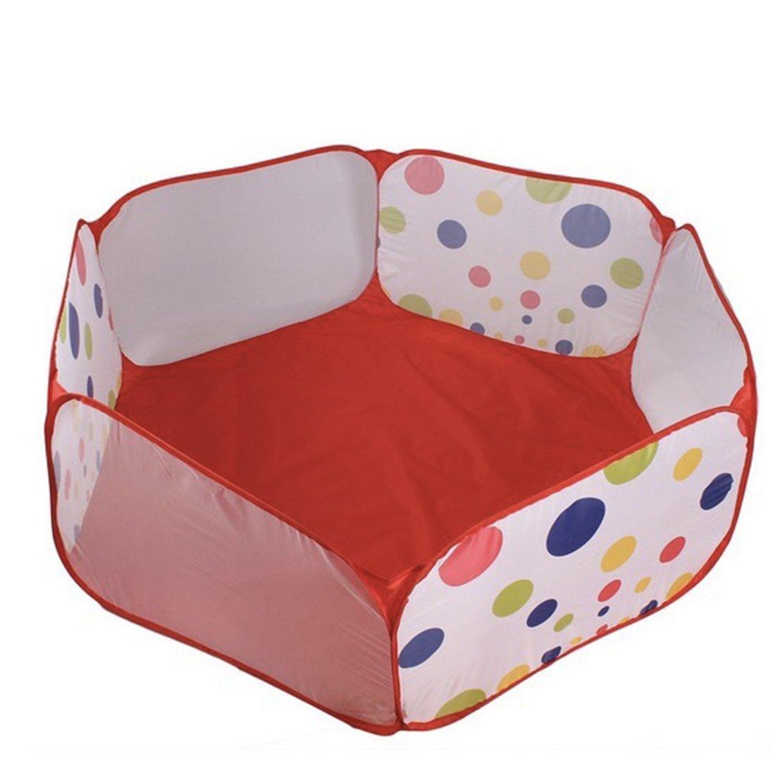 耐久性6辺Hexagon Polka Dot子供プールボールPlay Playpen with Carry Tote Baby Playard Great Gift for any ageグループ子インドアとアウトドア簡単折りたたみテントwith Carry Tote 59インチEasy Up Sun Shelter釣り/ビーチ/アウトドアテント B00XX2GZH4