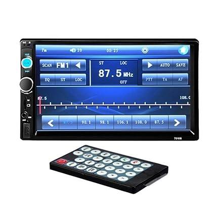 7010B - Radio HD para salpicadero de coche (pantalla táctil, 1080p, doble DIN