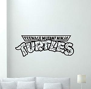Ninja Turtles Logo Wall Decal TMNT Emblem Logotype Teenage Mutant Comics Cartoon Poster Vinyl Sticker Kids Teen Boy Room Nursery Bedroom Wall Art Decor Mural 137PS