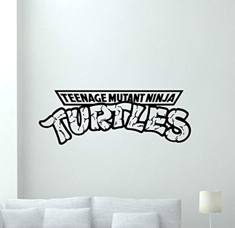 Amazon.com: Ninja Turtles Logo Wall Decal TMNT Emblem ...