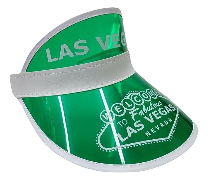 817e269a Amazon.com: Vegas Dealer Casino Visor Hat Golf Tennis Beach Colored Plastic  Clear Sun Bingo: Clothing