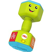 Fisher-Price Laugh & Learn Countin' Reps Dumbbell rattle toy with music, lights and learning content for baby and…