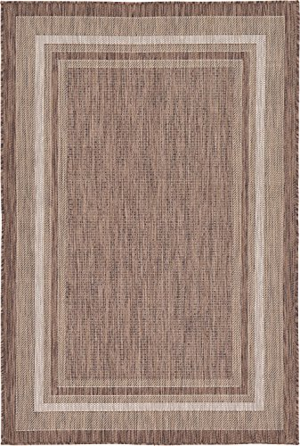 - Outdoor Collection Area Rug - Brown 4' x 6'-Feet, Perfect for Indoor & Outdoor Rugs - Garden and Pool Area, Camping, Picnic Carpet