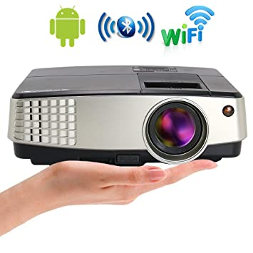 Mini WiFi Proyector de Video Bluetooth para Home Entertainment LED ...