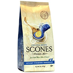 Sticky Fingers Bakeries, English Scone Mix, Original Flavor, Just Add Water, Mix, and Bake. Makes 12 Scones (Pack of 1)