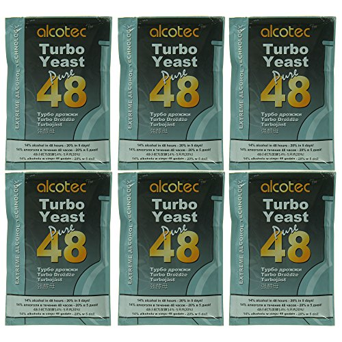 Alcotec 48 Hour Turbo Yeast (Pack of 6) by Alcotec (Image #2)