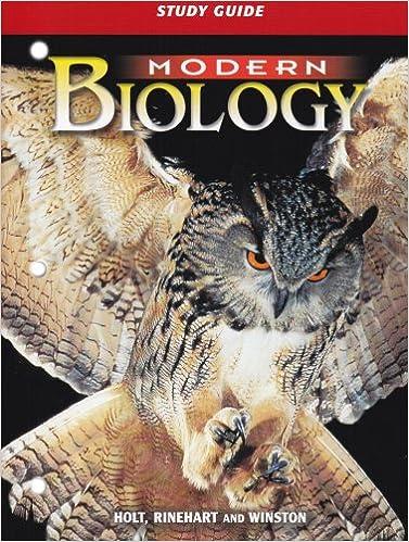 Modern Biology Study Guide 9780030642760