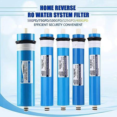50/75/100/125 / 400GPD Inicio de la casa Ósmosis inversa Reemplazo de membrana Reemplazo Sistema de agua Purificador de agua Tratamiento de bebida,125G: Amazon.es: Hogar