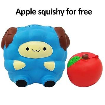 amazon com 2pcs jumbo squishies sheep apple squishies slow rising