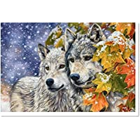 EverTrust(TM) Basket Hot Sale Diamond Embroidery Animals Wolf Handmade Full Square Resin Particles Kits For Cross Stitch