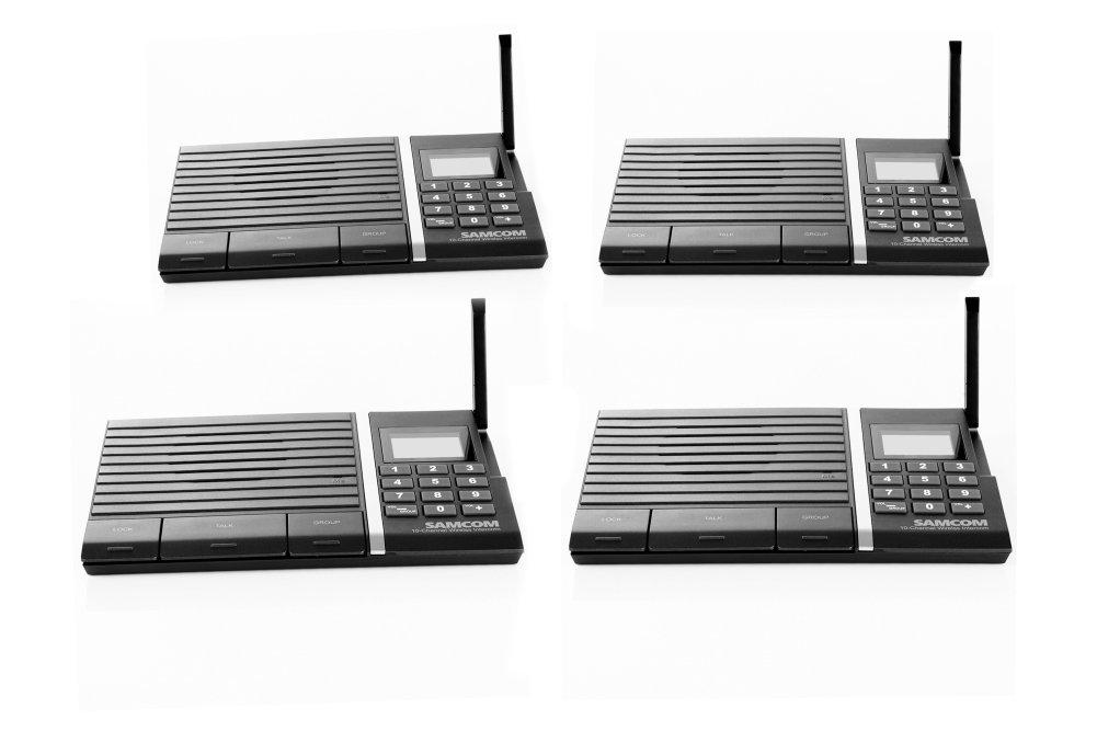 Wireless Intercom System ,Samcom 10-Channel Digital Long Range Wireless Intercom System for Home and Office 4 Stations