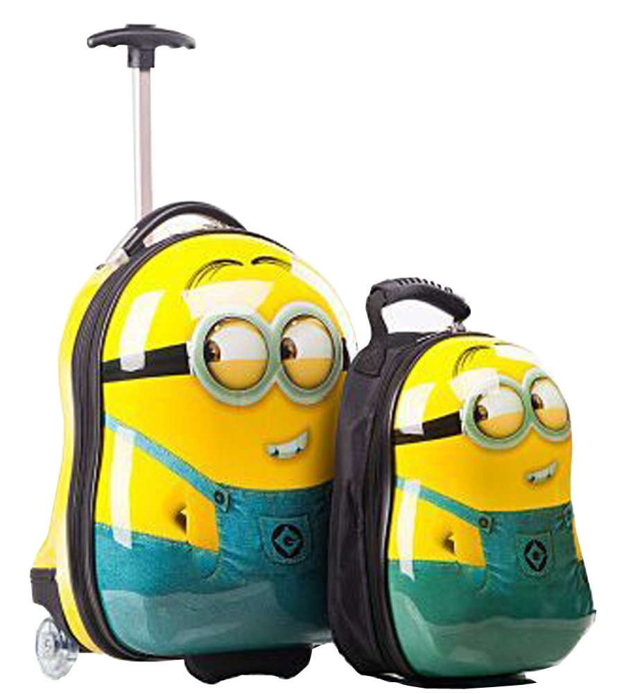 NEW EGG SHAPED KIDS CHILDRENS LUGGAGE SUITCASE TROLLEY BACKPACK ...