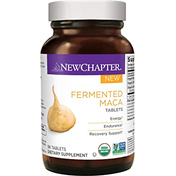 New Chapter Organic Maca Supplement - Fermented Maca Tablet for Energy + Endurance + Recovery Support