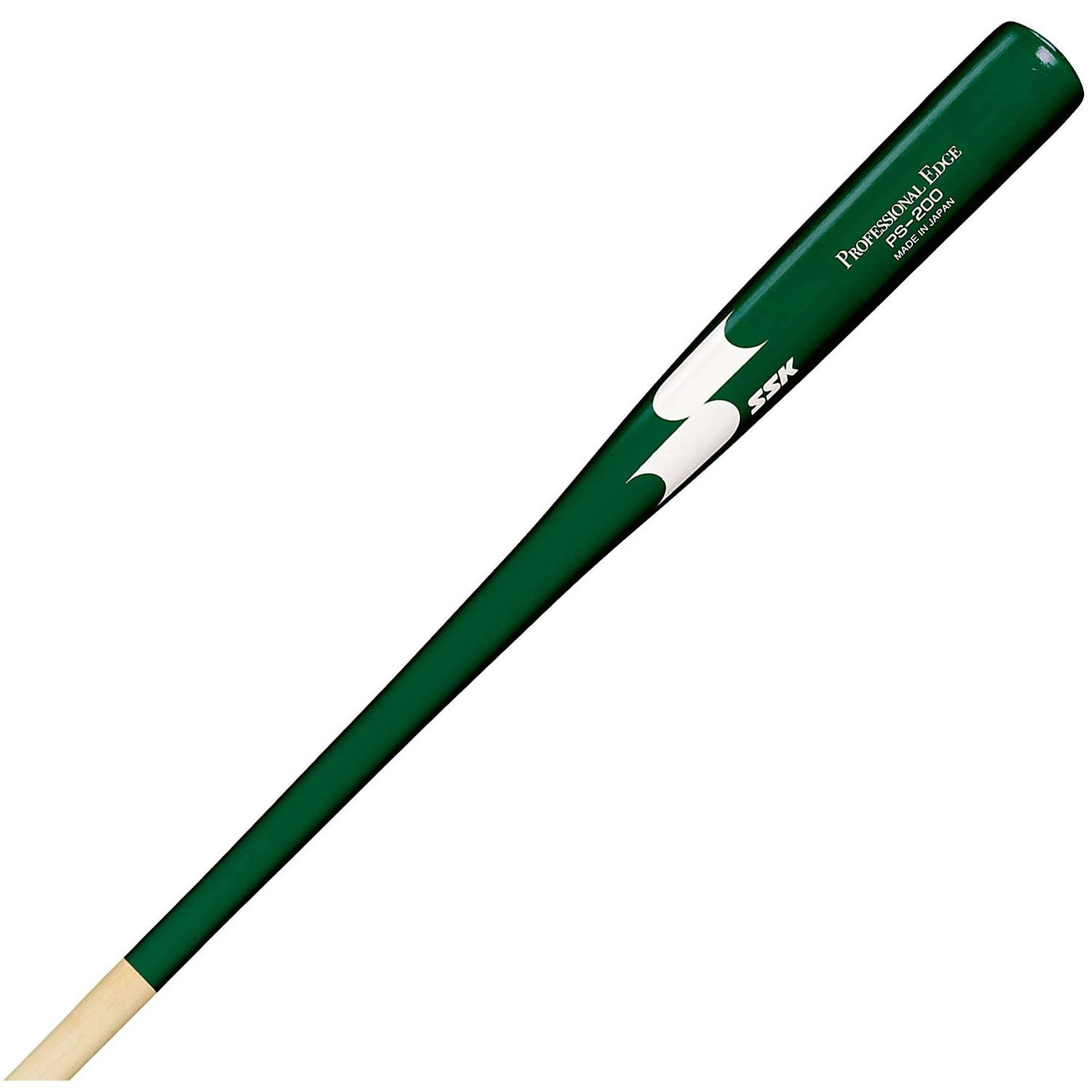 SSK PS200 Dark Green Fungo Wood 37'' Baseball Coaches Bat Lightweight by SSK