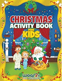 Christmas Activity Book For Kids Reproducible Games Worksheets And Coloring Woo