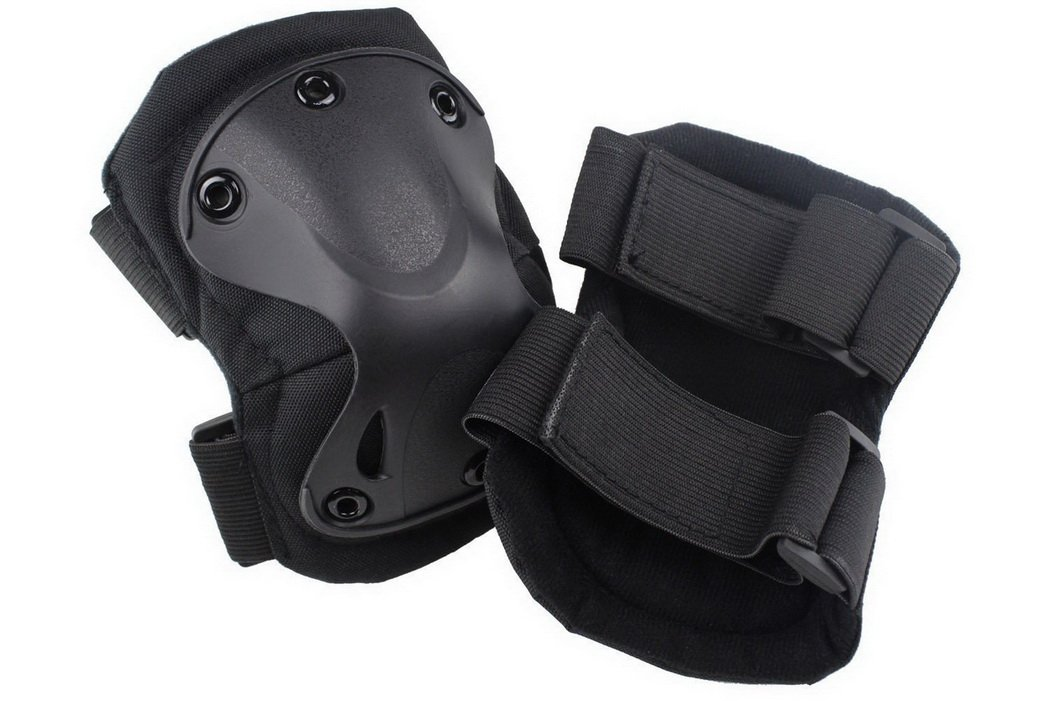 Simways Outdoor Tactical Knee Pad and Elbow Pad Set (Black) by Simways