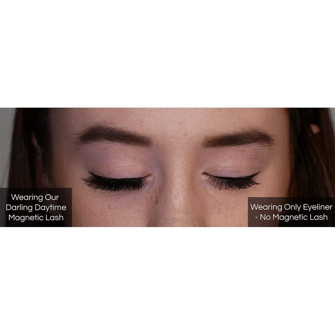 Day to Night Magnetic Eyeliner and Eyelash Kit - Reusable Silk False Lashes - Natural Look [No Glue] - By Clevermore Essentials by Clevermore Essentials, LLC. (Image #5)