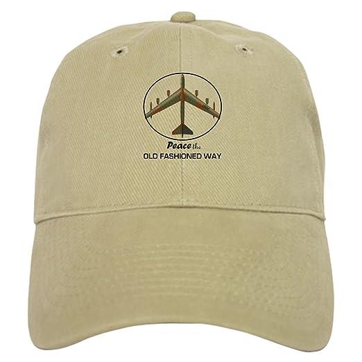 737ab4fa9c9ce CafePress - B-52 Peace the Old Fashioned Way Cap - Baseball Cap with  Adjustable