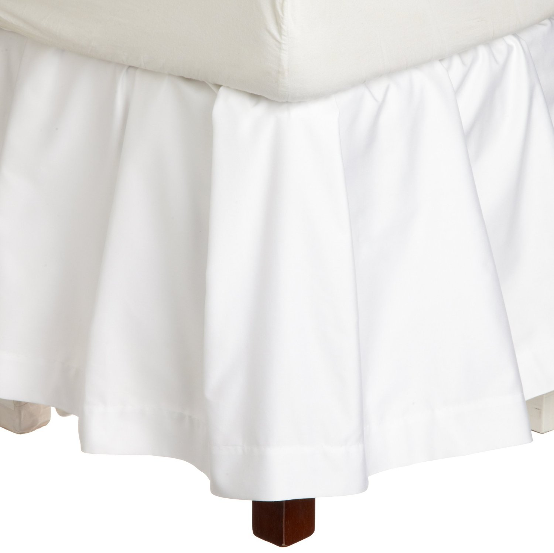 Peacock Alleyソプラノフリル付きベッドスカート、カリフォルニアキング、ホワイト B00A78SH5U