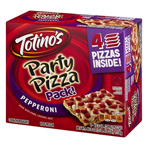 - Totino's Pepperoni Party Pizza Pack, 40.8 oz (Frozen)
