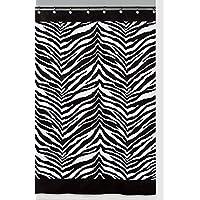 Cortina de ducha de cebra Creative Bath Products Inc. S1050BW, negra