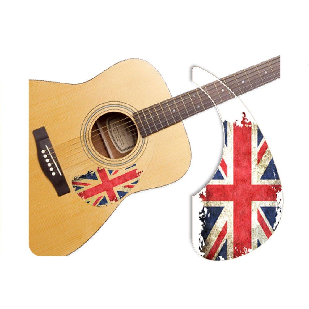 Healingshield Premium Acoustic Guitar Pickguard Basic Type Union Jack