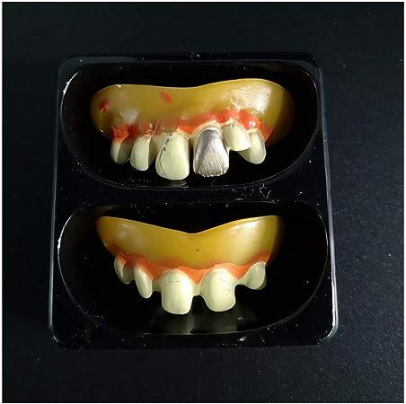 Chezaa - 2 piezas de dientes de vampiro para decoración de ...