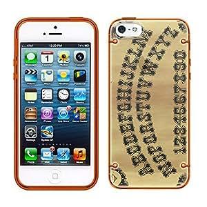 iPhone 5 5s Ouija Board See Through Case with Glow Orange Trim