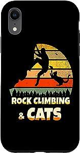 iPhone XR Rock Party Climbing Decor Rock Climbing Cats Case