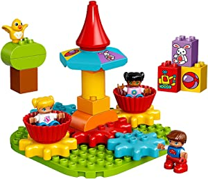 LEGO DUPLO My First Carousel 10845 Educational Toy, Large Building Blocks
