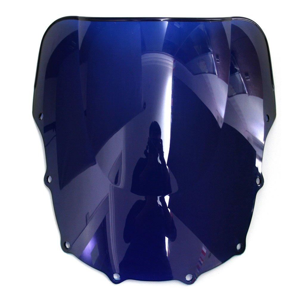 OyOCycle Windshield for Kawasaki Ninja ZX10R 2011 2012 2013 2014 2015 ZX 10R Double Bubble Windscreen Wind Deflector Wind Splitter