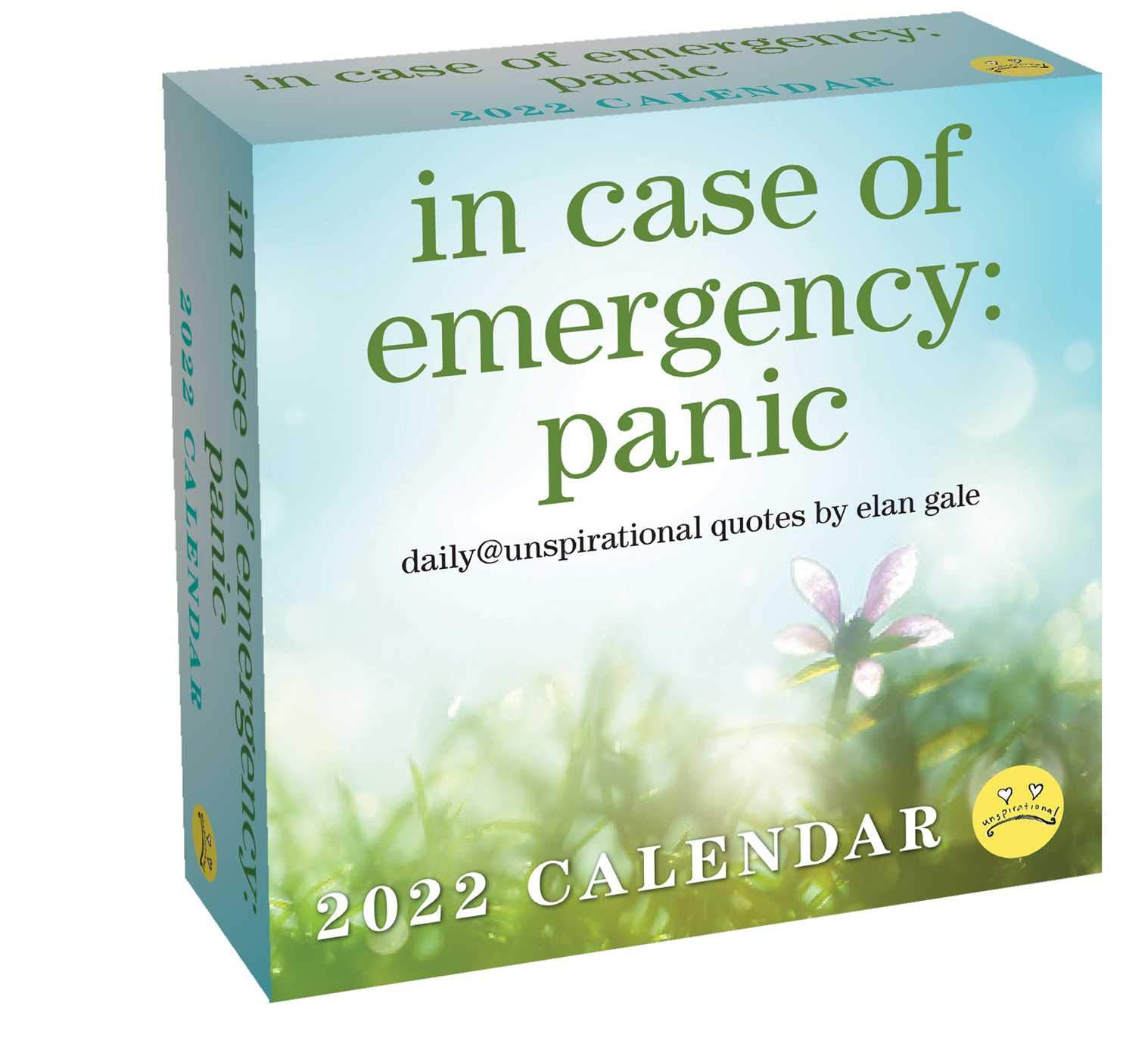 Daily Calendar 2022.Buy Unspirational 2022 Day To Day Calendar In Case Of Emergency Panic Book Online At Low Prices In India Unspirational 2022 Day To Day Calendar In Case Of Emergency Panic Reviews Ratings Amazon In