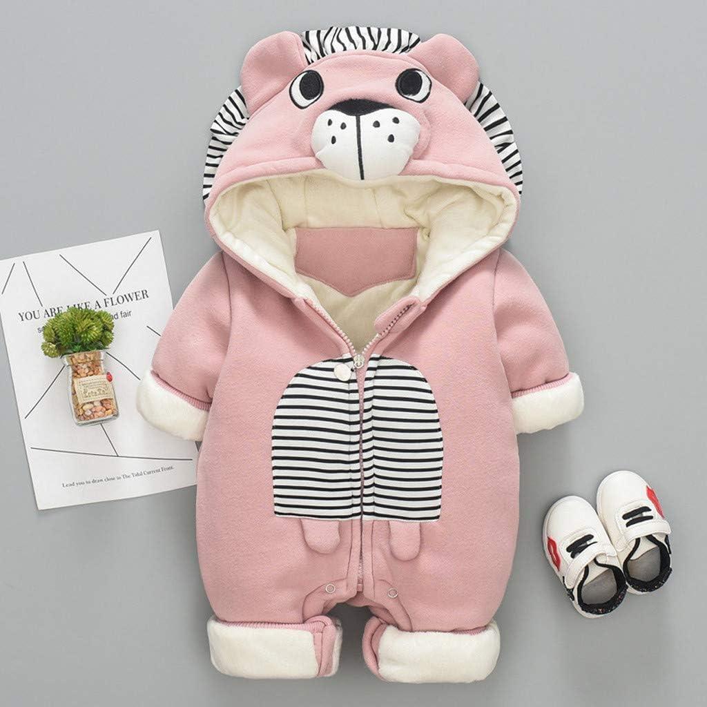 Newborn Jumpsuit Infant Baby Girl Boy Tiger Print Ruffle Bear Romper Playsuit,3-24Months,SIN vimklo