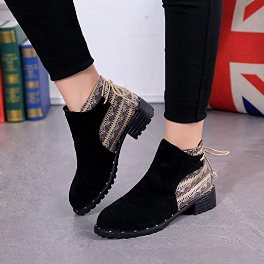 Amazon.com: Women Dancing Winter Warm Outdoor 2019 Fashion Trend Shoes,Sunsee Gril Leather High Heels Boots Lady Solid Sneakers: Arts, Crafts & Sewing