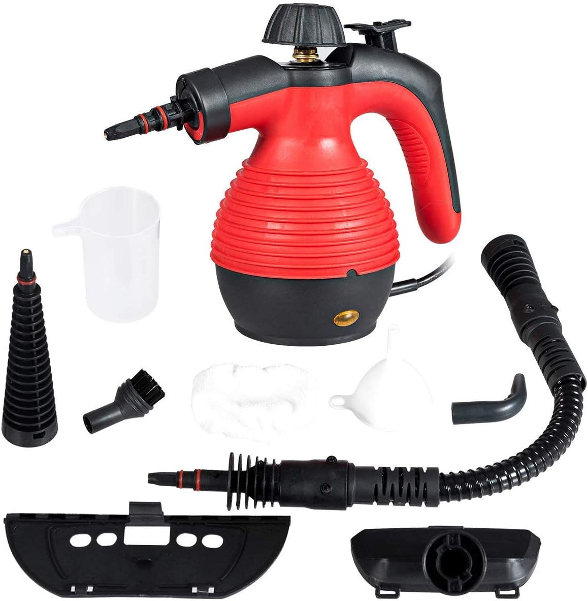 GOFLAME Steam Cleaner 1050W Handled Multi-Purpose Powerful Steam, Sanitizer, Steamer, Steam Iron, Remove Stains/Grease from Bathroom, Kitchen