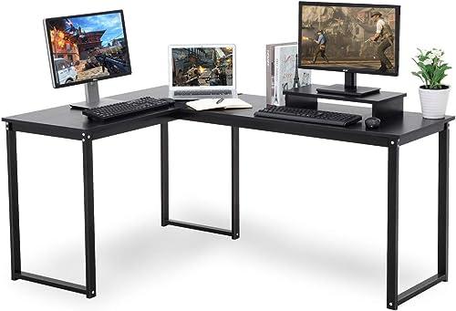 Best modern office desk: Umekesa L-Shape Corner Computer Desk