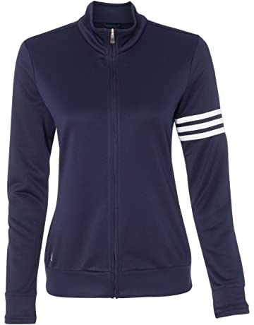 4587630c1d adidas Ladies  ClimaLite 3-Stripes French Terry Full-Zip Jacket