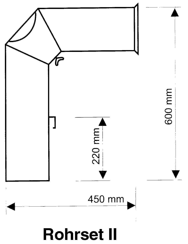 grau 2003511 150 mm Ofenrohr-Set