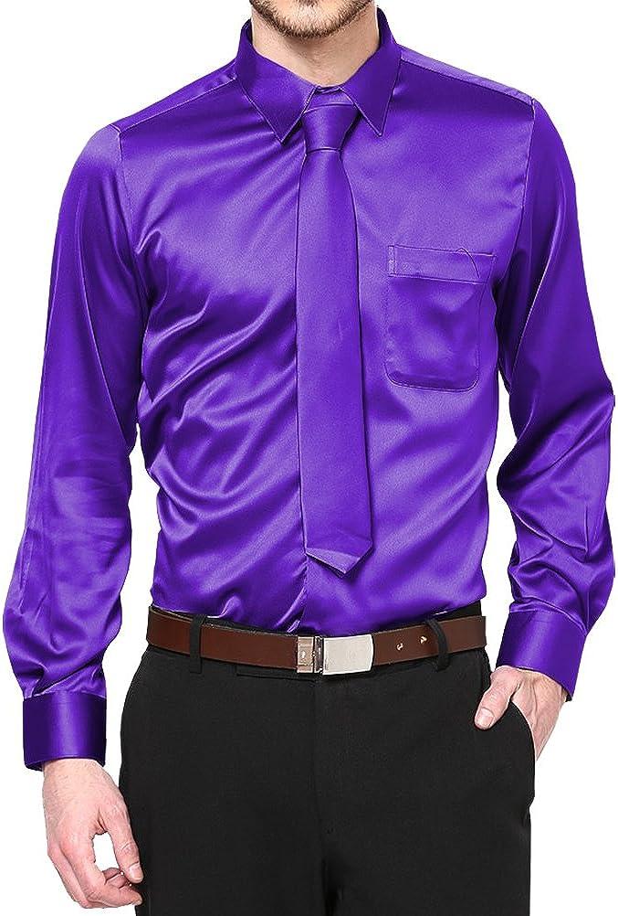 Boys Satin Clip on Long Neck Tie Lilac matching Boy suit 8 10 12 14 11 Colors