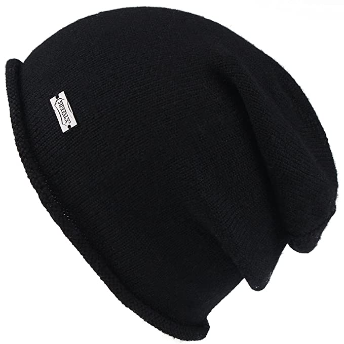 61b4d7afa67 FURTALK Women Cable Knit Wool Cashmere Ribbed Beanie Winter Slouch Braided  Baggy Winter Hat