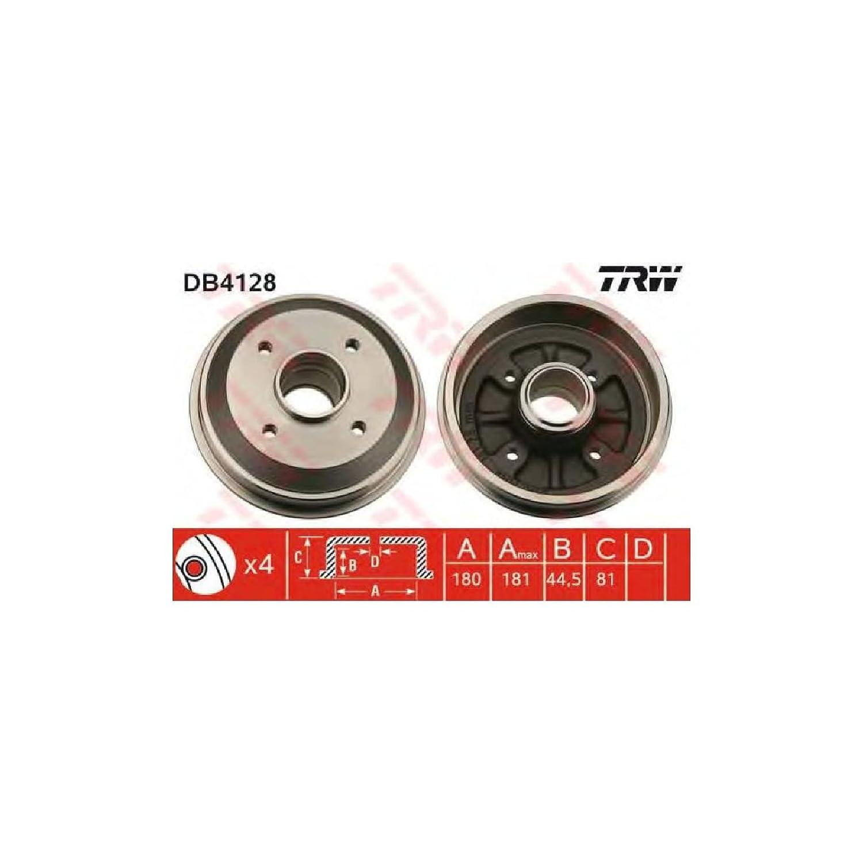 TRW DB4128 Tambores de Frenos