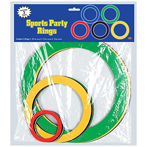 Toy Olympic Rings - Sports Party Rings (asstd colors) Party Accessory  (1 count) (15/Pkg)