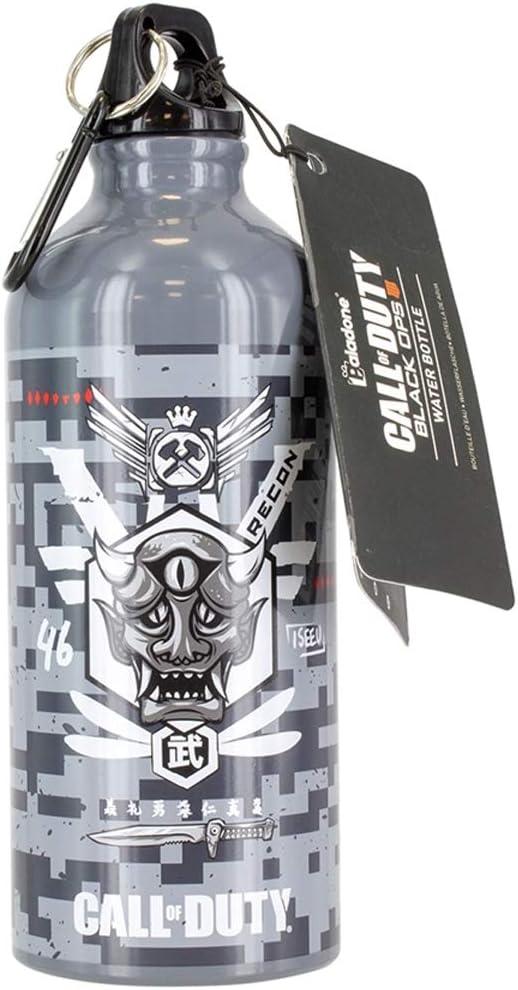 Paladone Call Of Duty Botella de agua de metal, con licencia oficial de Black Ops, 600 ml