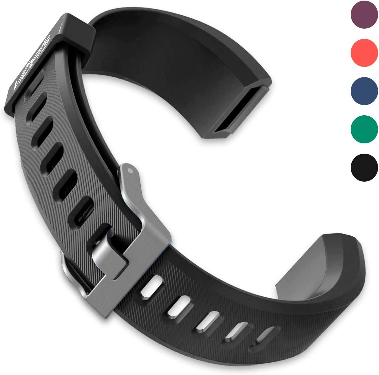 VIBETS Pulse Original Replacement Band for Fitness Tracker ID115PlusHR (Black)