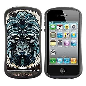 Hybrid Anti-Shock Bumper Case for Apple iPhone 4 4S / Beautiful & Sophisticated Gorilla