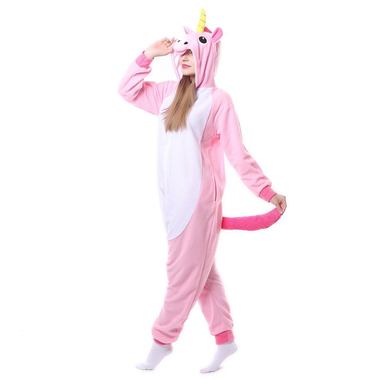 zeayea Adult Animal Kigurumi Unicorn Cosplay Costume Pajamas ZY201704277